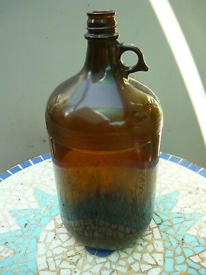 Vintage 4liter amber glass flagon in very good condition