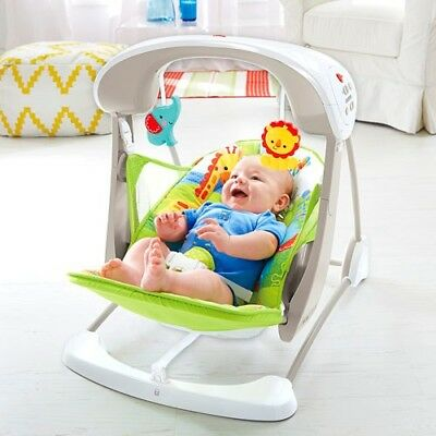 Baby swing/rocker - Fisher Price Colourful Carnival Take-Along Swing and Seat