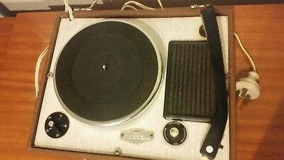 Retro Vintage 60s 70s Aristone Portable Record Player Suitcase Style Free Post