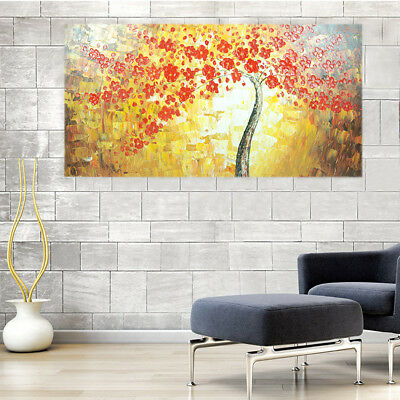 Abstract Hand-Painted Oil Painting - Flower Tree | Wall Art Home Decor Framed