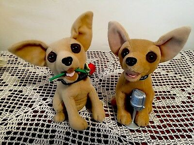 2 Taco Bell  Chihuahua Dogs with Big Brown Eyes ADORABLE Both Work Great!