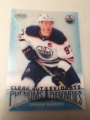 2018-19 UD Tim Hortons Hockey Cards Clear Cut Phenoms CONNOR McDAVID CC-1