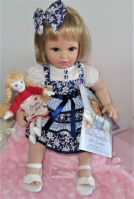 Stunning Toddler Vinyl Collectable Doll By Ashton Drake Galleries