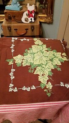 Brown And Ivy Vintage Tablecloth