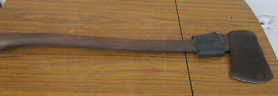 Large Old, Vintage Swing Axe. Makers Mark. Solid Wooden Handle.  Collectible