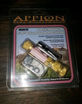 "Appion Mega Flow #mgavcr 5/16"" Valve Core Removal Tool"