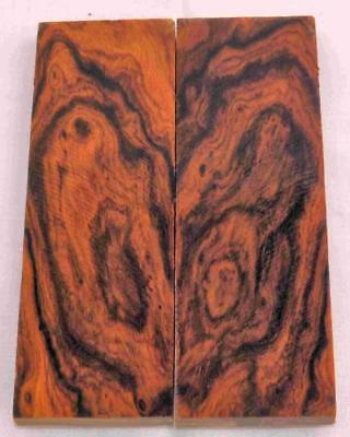 Desert Ironwood bookmatched figured knife scales turning wood turning blank #607
