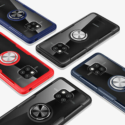 For Huawei Mate 20 Pro Lite X Luxury Ring Stand Car Magnetic Armor Case Cover