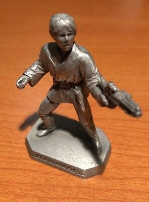 Vintage Star Wars Rawcliffe Fine Pewter Miniature Luke Skywalker Figurine 1994