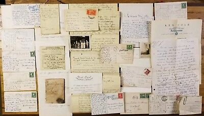 RARE Old Letters Documents Collection • 1920s Handwritten Correspondence Antique