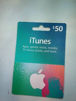 $50 Apple iTunes gift card at a reduced price