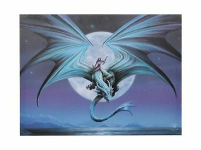 "NEW DESIGN Anne Stokes ""Moonstone"" Large 40x30cm Dragon Canvas Wall Art"