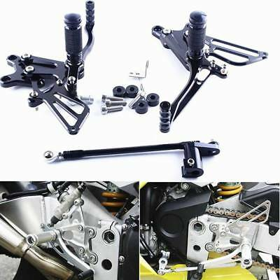 Adjustable Rearset Foot Pegs Pedals For HONDA CBR954RR CBR929RR 2002-2003 Black