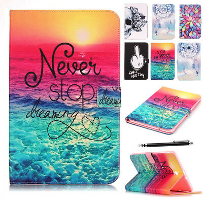 For Samsung Galaxy Tab A 10.1 SM-T580 T585 Folio Leather Flip Stand Case Cover