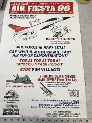 Confederate Air Force Poster Ghost Squadron CAF 1996 Airsho Flyer Air Fiesta RGV