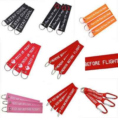 Luggage Tag Scooter Embroidery Motorcycle Fob OEM Zipper Keyrings Keychains