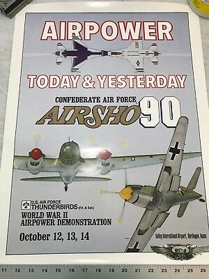 Confederate Air Force Poster Ghost Squadron CAF 1990 Airsho Flyer Air Fiesta RGV