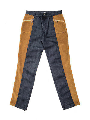 D&G!!! Vintage 1990s 'D&G' mens denim jeans with brown corduroy side panels