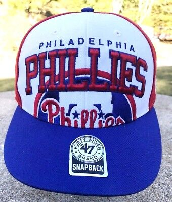 Vtg  47 Brand Philadelphia Phillies Adjustable Snapback MLB Baseball Hat Cap f4c776a848fa