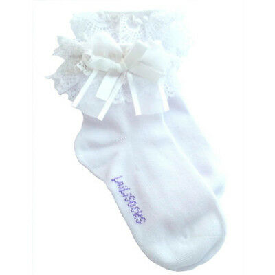White L Cotton Children Girls Casual Kids Solid Socks Lace Hosiery Breathable