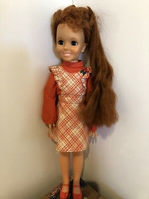 """Chrissy Doll From Ideal 1968 18"""" With Accessories (Damaged Arm)"""