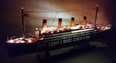 "RMS Titanic Handcrafted Ocean Liner 32"" with Lights"