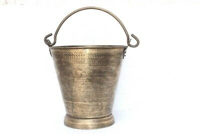 1900's Vintage Indian Antique Hand Crafted Brass Well Water Bucket PA-40