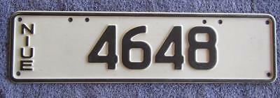 Niue Island License/number Plate # 4648