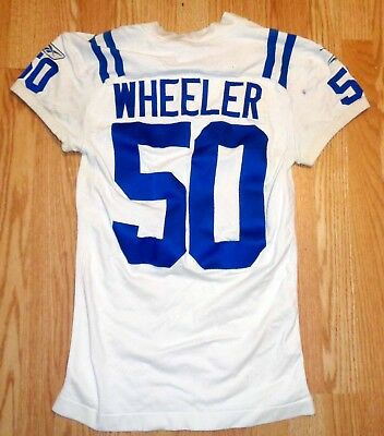 Indianapolis Colts PHILIP WHEELER game used Reebok practice  jersey
