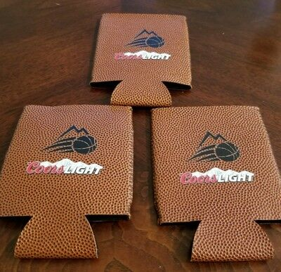 Coors Light NEW Basketball Beer Koozie Can Cooler LOT) Lot of 3