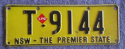 Metro Taxi Nsw License/number Plate # T-9144