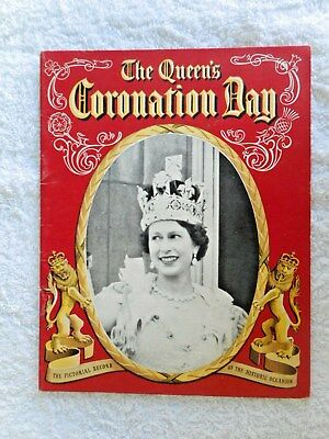 VINTAGE THE QUEEN'S CORONATION DAY BOOK BRITISH ROYALITY PITKINS #eBay MARKETS