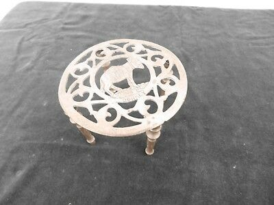 Vintage Large brass trivet (4 legs) –Clovelly Donkey-  lot 103