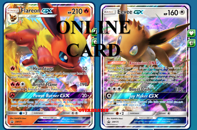 Flareon GX Premium Collection SM171 - Pokémon TCG Online Card PTCGO - SENT FAST!