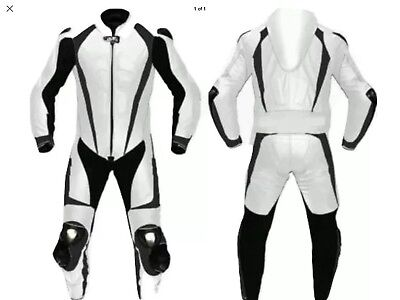 Motorcycle New White/Black Track Bikers Race Suit