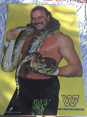 Rare.1980S Retro Poster.jake The Snake Roberts.wwf.wrestling.wwe