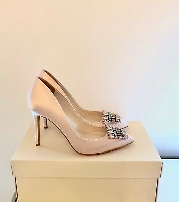 Jenny Packham Pink High Heel Bridal Shoes Size 4 EU 37 Party Courts Brand New