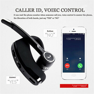 Schwarz V8S Business Bluetooth Wireless Headset Stereo Kopfhörer Sport Handfree