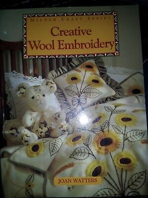 creative wool embroidery craft book complete with patterns unused