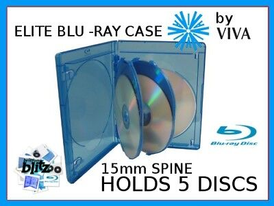 15mm VIVA ELITE Replacement Blu-Ray Case (holds 5 discs) - NEW