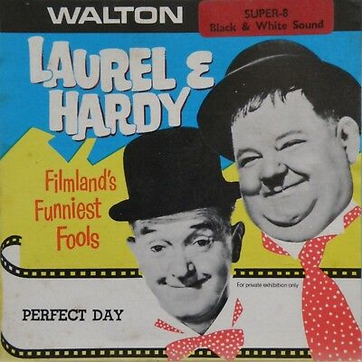 """Laurel & Hardy Perfect Day Walton Films Super 8Mm 5""""home Movie Comedy Film A.347"""