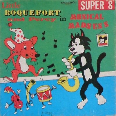"""Box Only (No Film) Little Roquefort And Percy In Musical Madness Super 8Mm 5"""""""