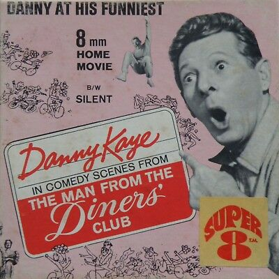 """Danny Kaye The Man From The Diner's Club Columbia Super 8Mm 5"""" Home Movie Film"""
