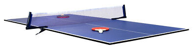 table tennis table top, full size, blue, hardly used, with net.