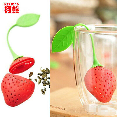 Food-grade Silicone Strawberry Design Tea Leaf Strainer Infuser Filter Tools DIY