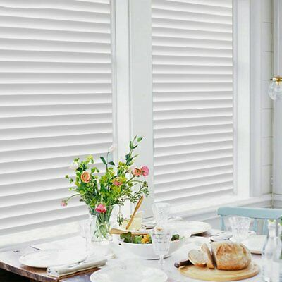 White Privacy Frosted Film Frost Glass Window Film Striped Shutters Sticker Hot