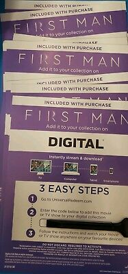 First man  Canadian Digital movie code only