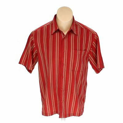 b27874c1 HAGGAR MEN'S Button-up Short Sleeve Shirt, size M, brown, red ...