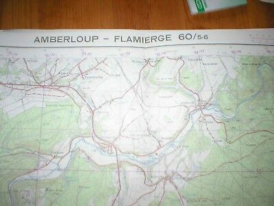 Carte Ign Kaart 60/5-6 - Amberloup - Flamierge- 1/25000