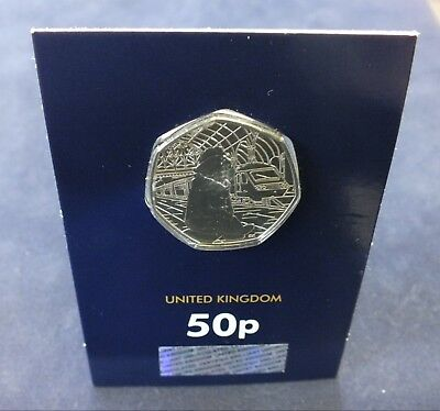 UK, Paddington Bear, Cupronickel Fifty Pence Coin, 2018.